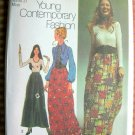 70s Maxi Skirt, Knit Top and Blouse Simplicity 9616 Vintage Sewing Pattern