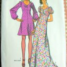 Vintage Sewing Pattern Simplicity 9446 Misses Empire Maxi Dress
