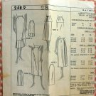 1950s Straight Skirt Vintage Mail Order Sewing Pattern 2489