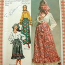 Peasant Blouse and Maxi Skirt Old Sewing Pattern Simplicity 9112