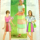 Bonnet and Ruffled Maxi Skirt Old Sewing Pattern Simplicity 9830 Small