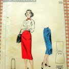 Misses Fifties Slim Skirt Vintage Sewing Pattern Butterick 7456