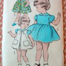 Toddler Dress and Pinafore Vintage Sewing Pattern Advance 2903