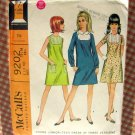 A-Line Dress Vintage Sewing Pattern McCall's 9202