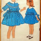 Dress with Bow Vintage Sewing Pattern Advance 2984 Size 2