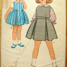 Jumper with Blouse Vintage Sewing Pattern Advance 2989 Size 4