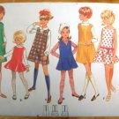 Girls Dress Or Jumper Vintage Sewing Pattern Butterick 4974