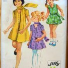 Girls dress and scarf Vintage Sewing Pattern Simplicity 8898