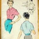 Misses 50s Blouse Advance 8841 Vintage Sewing Pattern