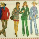 Short Shorts and Jacket Vintage 70s Fall Menswear Sewing Pattern Simplicity 9599