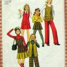 Girls Skirt, Pants, Vest Vintage Sewing Pattern Simplicity 5225