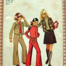 Girls Skirt, Bell Bottom Pants, Jacket Vintage Sewing Pattern Simplicity 5208
