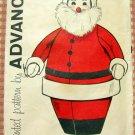 Christmas Craft Santa Pajama Case Vintage Sewing Pattern Advance 9601