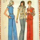 Misses Vest and Pants Vintage Sewing Pattern Simplicity 6513