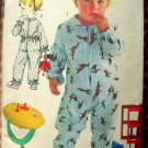 Footed Pajamas Vintage Sewing Pattern Advance 3105