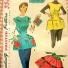 Misses Cobbler Apron and Poppy Potholder Vintage Pattern Simplicity 4492