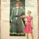 Half Size Country Style Dress Vintage Pattern Simplicity 9849