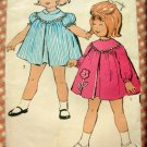 Toddler's Smock Dress Vintage Sewing Pattern Advance 2986 Size 2