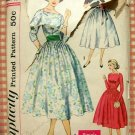 Junior Misses 1950s Dress and Cummerbund Vintage Sewing Pattern Simplicity 2338