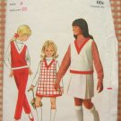 Girls Pleated Skirt Vintage Sewing Pattern Butterick 4973