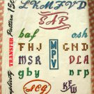 1940s Alphabets for Monograms Vintage Embroidery Craft Pattern Simplicity 7300