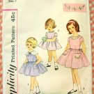 Tot's Dress Vintage Sewing Pattern Simplicity 4325