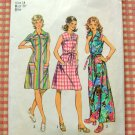 Misses 70s Maxi Dress Vintage Sewing Pattern Simplicity 5028