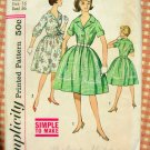 Misses 60s Full Skirt  Dress Vintage Sewing Pattern Simplicity 4384