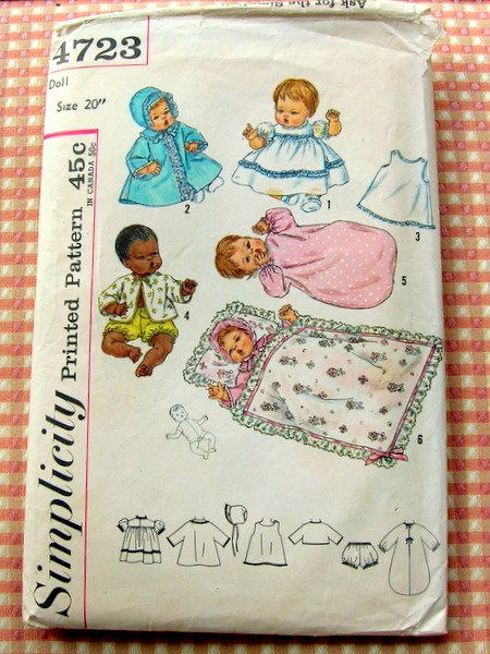 how to sell crafts thumbelina doll layette vintage sewing pattern simplicity 4723 4723