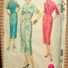 50s Mandarin Coatdress Vintage Sewing Pattern McCalls 3290