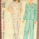 Women's Pajamas Vintage Sewing Pattern Simplicity 2053
