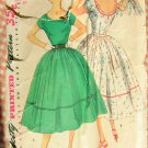 Fifties Low Cut Back Dress Vintage Sewing Pattern Simplicity 4637