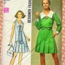 Vintage 70s Pleated  Dress Sewing Pattern Simplicity 8630