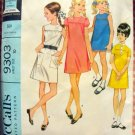 Girl's Sheath Dress 60s Vintage Sewing Pattern McCalls 9303