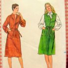 Misses 70s Midi Dress or Jumper Vintage Sewing Pattern Butterick 3961