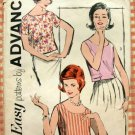 Misses Blouse Vintage 60s Sewing Pattern Advance 2808