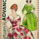 Misses Rockabilly Dress Vintage Sewing Pattern Advance 9653