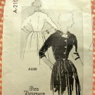 Misses Fifties Dress Spadea Vintage Mail Order Sewing Pattern A-2109