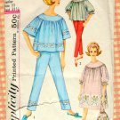 Vintage Sewing Pattern Nightgown, Pajamas, Laundry Bag Simplicity 4587