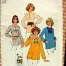Boho Embroidered Tops  70s  Vintage Pattern Simplicity 7627
