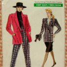 80s Jacket, Skirt, High Waisted Peg Leg Pants Vintage Vogue Sewing Pattern 7287