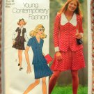 Misses Pleated Mini Skirt and Top Vintage Pattern Simplicity 9890