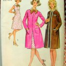 Misses Petite Sleeveless Dress and Coat Vintage Pattern Simplicity 9891