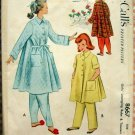 McCall's 8667 Girl's Robe and Pajama Pants Vintage Sewing Pattern