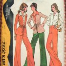 Misses Jacket, Blouse and High Waisted Pants Vintage Sewing Pattern McCall's 3692