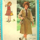 Girl's Skirt, Blouse and Vest Vintage Sewing Pattern Simplicity 8839
