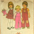 Toddler's Overalls, Jumper and Clown Doll Vintage Sewing Pattern Simplicity 7060