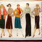 Misses Slim Skirt Vintage Vogue Basic Design Sewing Pattern 2236