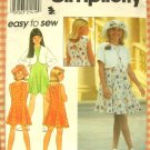 Girl's Bolero Jacket, A-Line Dress and Hat Sewing Pattern Simplicity 8068