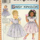 "Daisy Kingdom Dress and 18"" Doll Dress Simplicity 9039 Sewing Pattern"